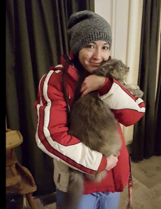 Safia, lost cat recovered and Mom